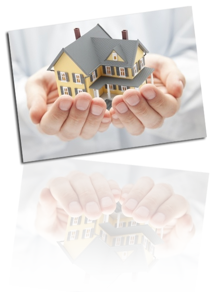 picture of a house in hands