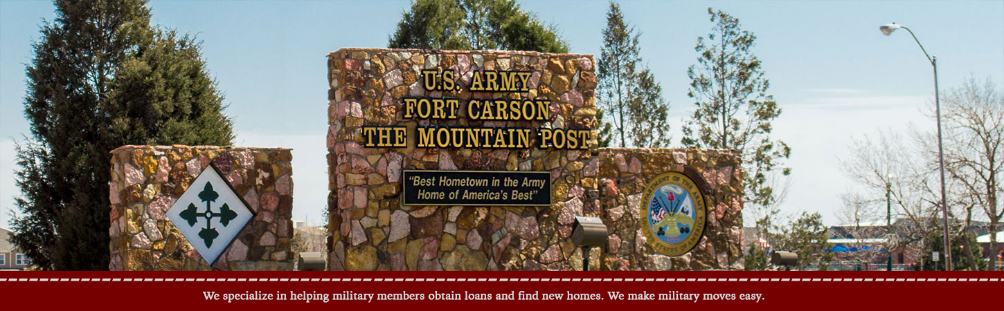 US Army Fort Carson Sign