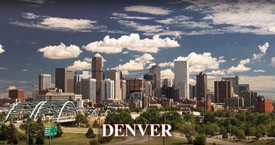 Denver Colorado Real Estate Skyline Image
